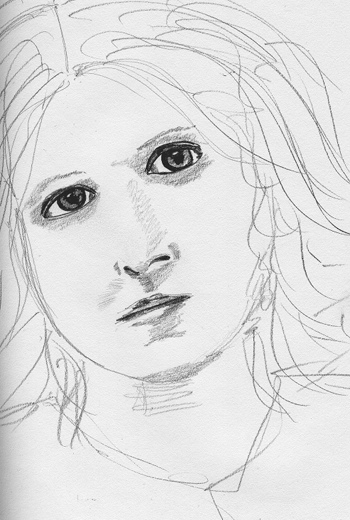 pencil sketch of Florence Macbeth