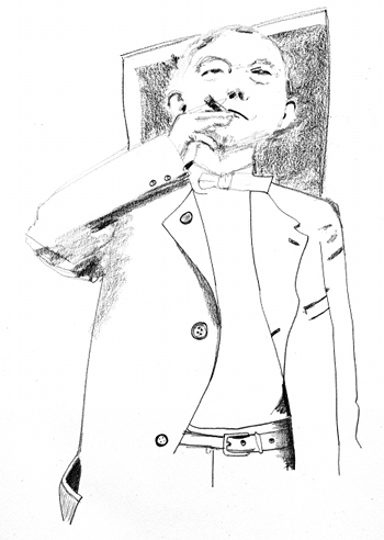 pencil sketch of Senator William Stone